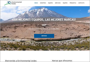Página Web Environmental Andes